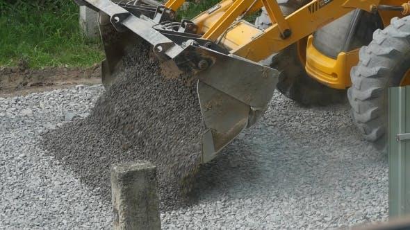 Equipment Excavator Moving Gravel