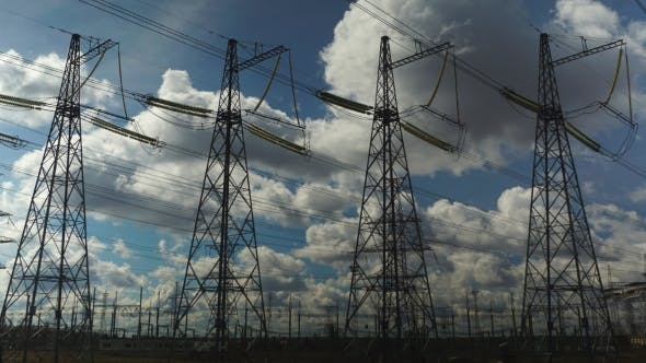 Thumbnail for Power Transmission Line With Cloudy Sky On The Background