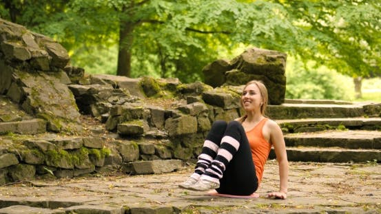 Thumbnail for Exercise Woman Doing Situps In Outdoor Workout Training