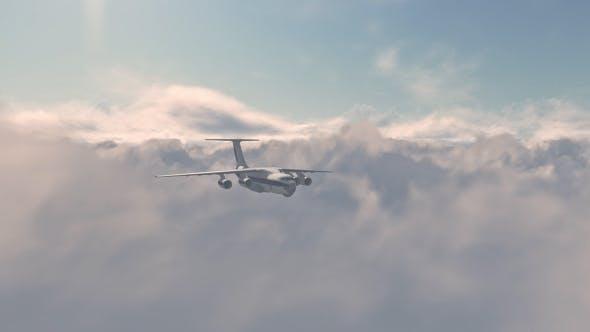 Thumbnail for Jet Plane Fly Over Sunset