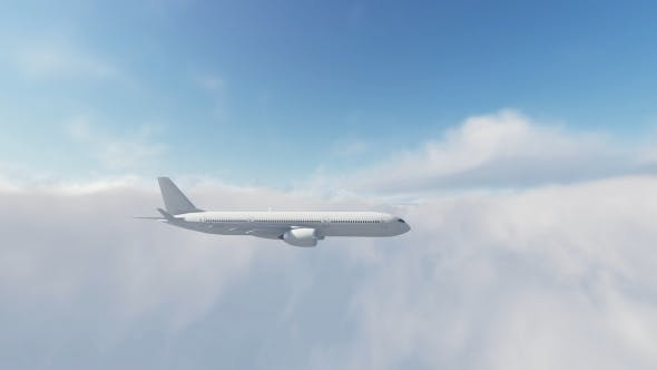 Thumbnail for Airbus Plane Fly Over Sunset