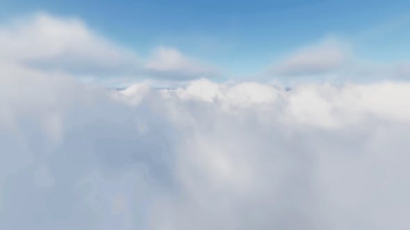 Thumbnail for Realistic Flying Above The Clouds - Noon
