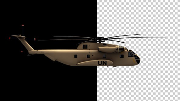 United Nations Helicopter - Sikorsky