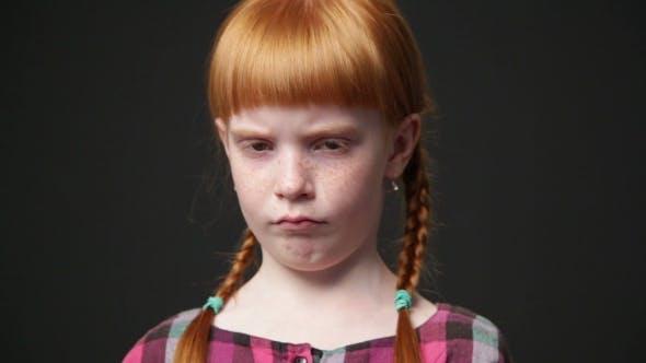 Sad Ginger Girl