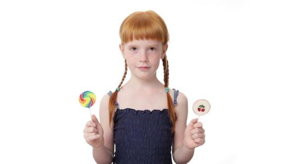 Thumbnail for Little Ginger Girl With  Lollypops