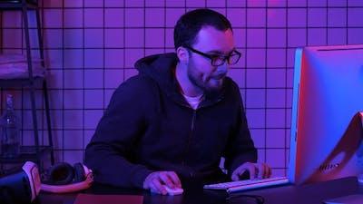 Hacker at The Computer Hacking