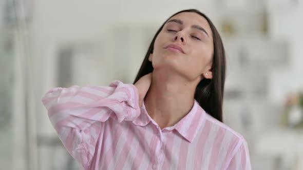 Young Latin Woman Having Back Pain