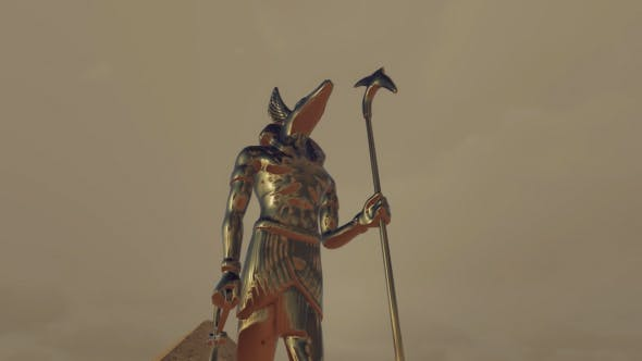 Gods Of Ancient Egypt Anubis Dramatic Scene Von Handrox G Auf