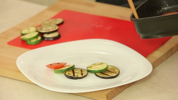 Thumbnail for Grilled Vegetables On a Plate