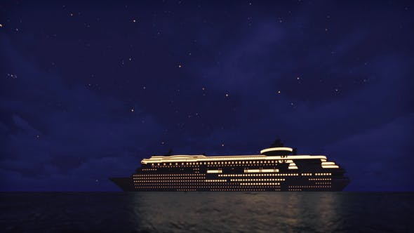 Thumbnail for Cruise Ship On The Sea - Night