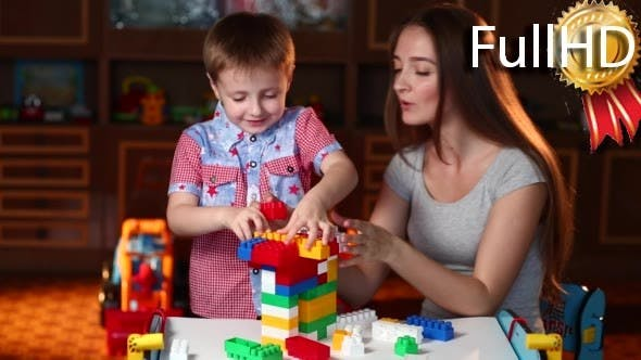 Thumbnail for Mom and Her Son Build a House Out of Colored