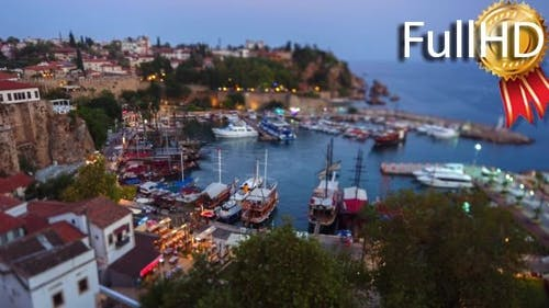 Timelapse of the Old Harbour in Antalya, Turkey