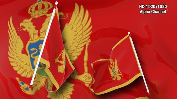 Flag Transition - Montenegro