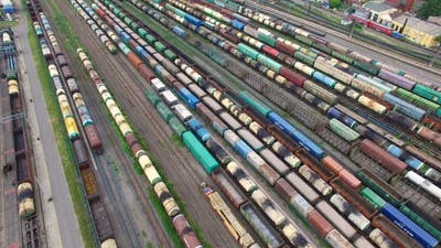 Railway Yard With a Lot Of Railway Lines