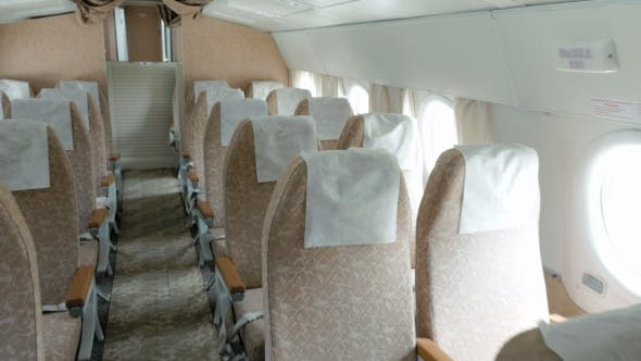 Thumbnail for Plane With Clean And Comfortable Seats In Beige