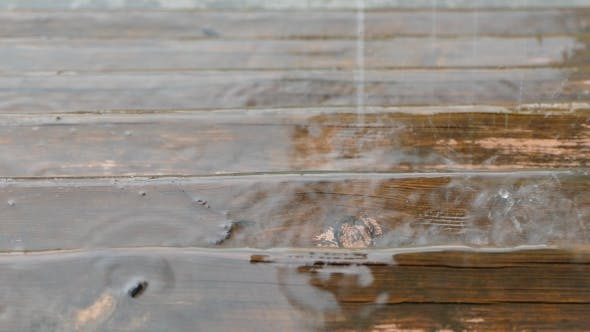 Cover Image for Raindrops Falling On Wooden Floor