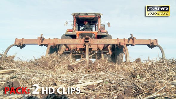 Thumbnail for Tractor At Work. Pack 2 Full HD Clips.