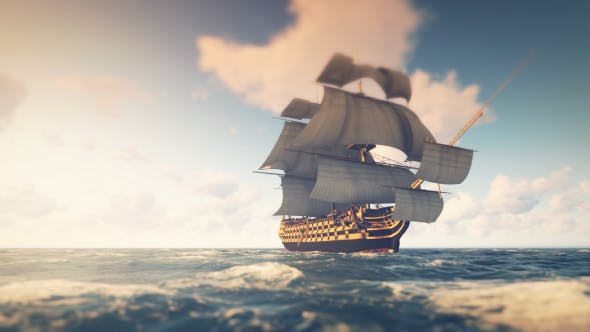 Thumbnail for Sailing Galleon - Noon