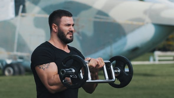 Thumbnail for Strength Training At a Military Base.