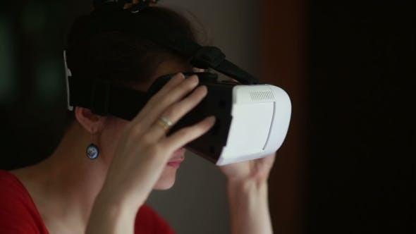 Thumbnail for Young Woman Wearing Virtual Reality Glasses