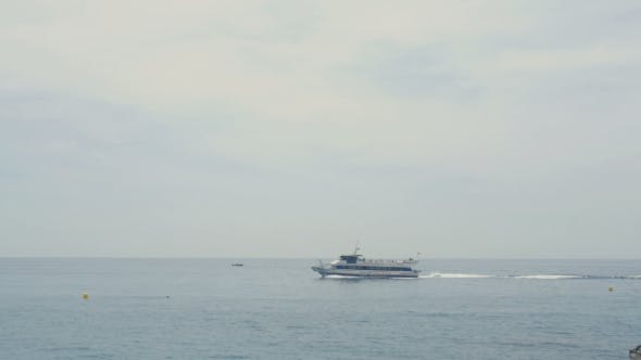Thumbnail for Luxury Yacht In The Sea. Speed Boat