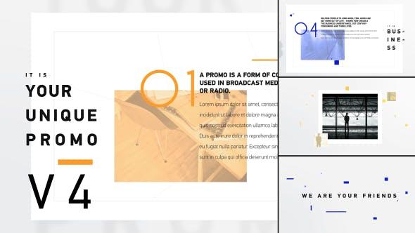 Einzigartige Promo v4 | Unternehmens- Presentation