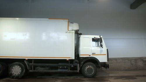Truck Leaves From The Warehouse