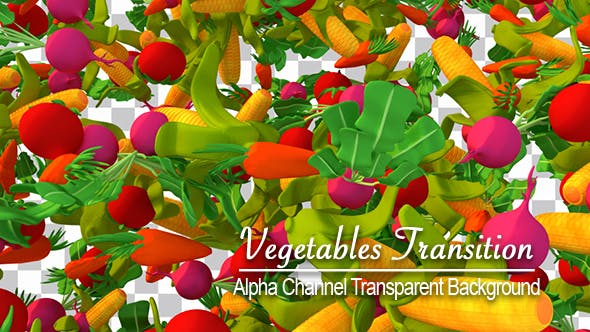 Thumbnail for Cartoon Vegetables Falling Down Transition