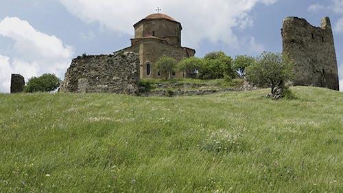 Georgian Orthodox Monastery Jvari near Mtskheta  Eastern Georgia