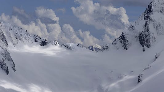 Thumbnail for Snow Covered Mountain Tops Russia Caucasus.