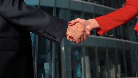 Thumbnail for Business Peoeple Hand Shake Outdoor.