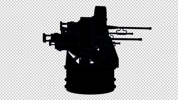 Thumbnail for Antiaircraft - 3D Outline