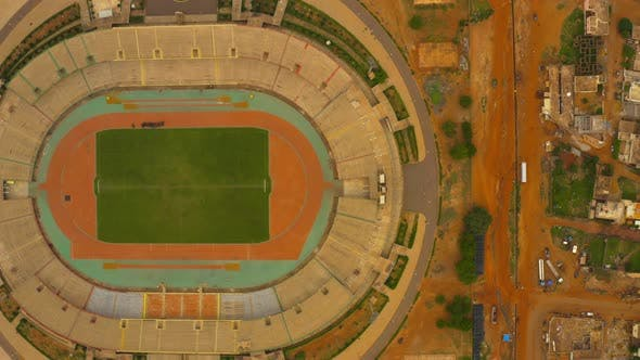 Cover Image for Africa Mali City And Stadium Top View