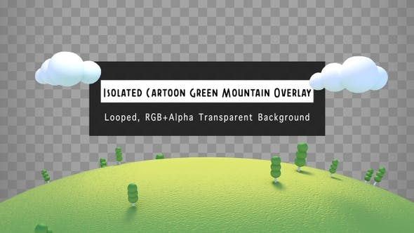 Thumbnail for Isolated Cartoon Green Mountain Overlay