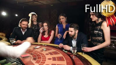 Dealer Shuffles the Men and Women in a Casino