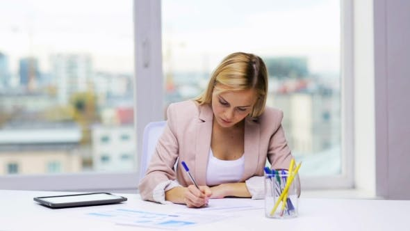Thumbnail for Businesswoman Or Student With Papers Tablet Pc 44
