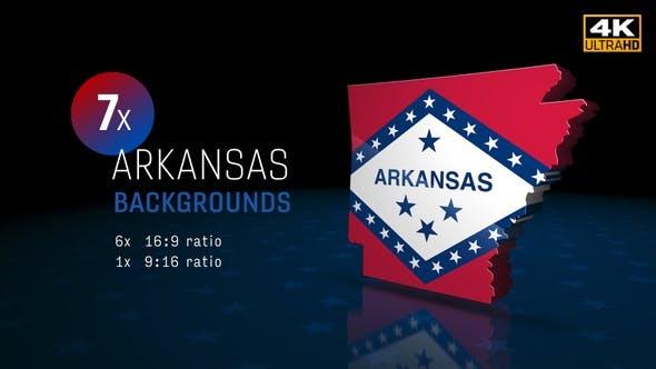 Thumbnail for Arkansas State Election Backgrounds 4K - 7 Pack