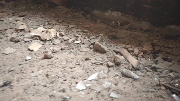 Thumbnail for Airsoft Plastic Rounds Hitting Floor In Abandoned Building
