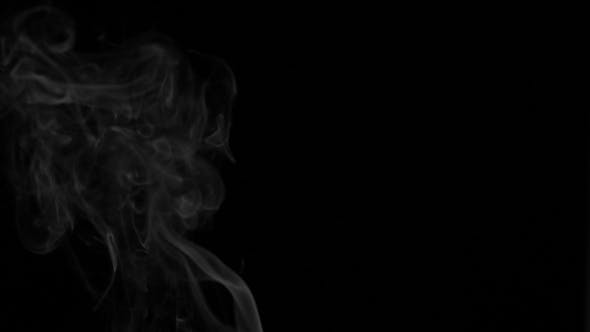 Thumbnail for Footage White Smoke On Black Background.