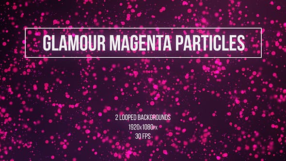 Thumbnail for Glamour Magenta Particles