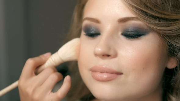 Thumbnail for Makeup Applying. Cosmetic Powder Brush. Perfect Skin