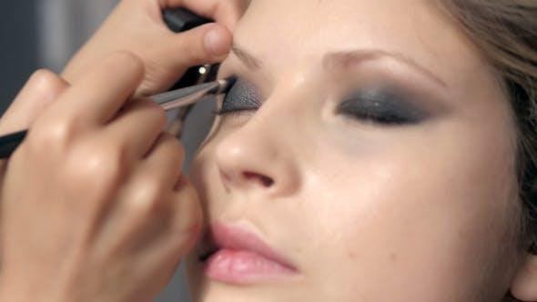 Thumbnail for Makeup. Make-up. Eyeshadows. Eye Shadow Brush, Eye Lid, Smockey Eyes