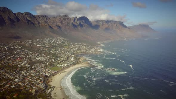 Thumbnail for Panoramic aerial view of Cape Town, South Africa.