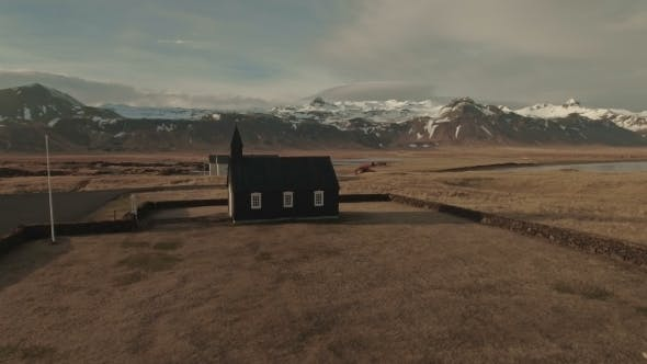 Thumbnail for Old Church Against Mountains