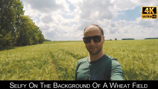 Thumbnail for Selfy On The Background Of A Wheat Field 4
