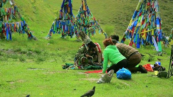 Shaman Ceremony in Mongolia