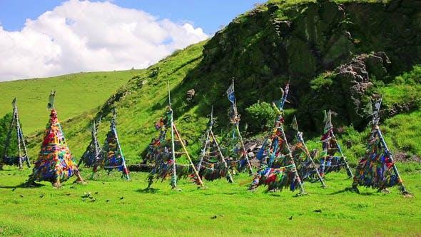 Shaman Adak in Front of Rock, Mongolia 3