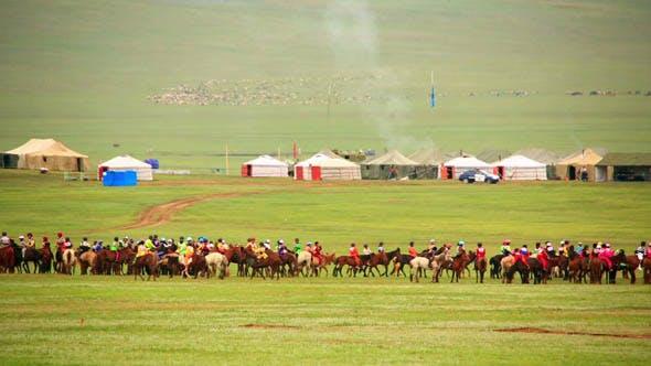 Cover Image for Naadam Festival, Horse Race, Mongolia