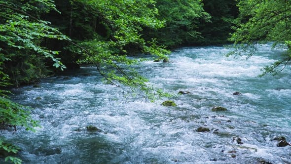 Thumbnail for The Mountain River With Blue Water