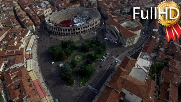Thumbnail for Aerial View of the City Centre of Verona and the